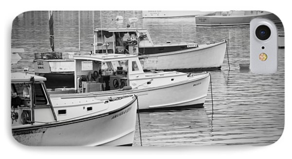 Lobster Boats In Bass Harbor And Bernard Maine  IPhone Case