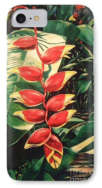 Lobster Claw Heliconia Phone Case by John Clark