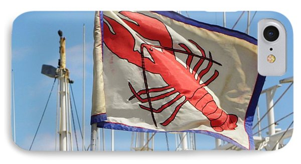 Lobster Flag At The Point IPhone Case by Mary Carol Williams