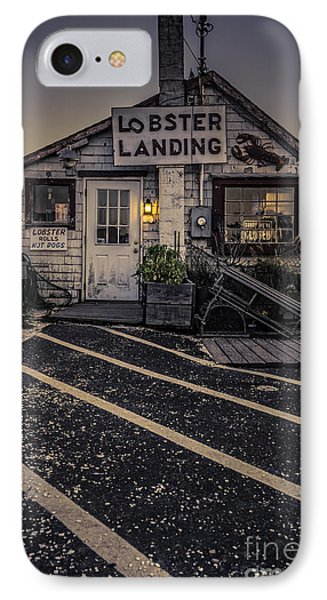 Lobster Landing Shack Restaurant At Sunset IPhone Case by Edward Fielding