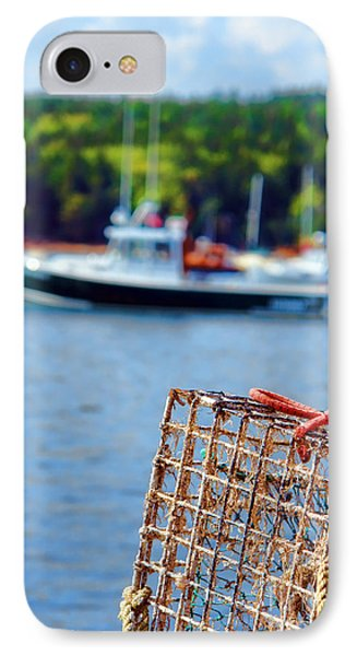 Lobster Trap In Maine Phone Case by Olivier Le Queinec
