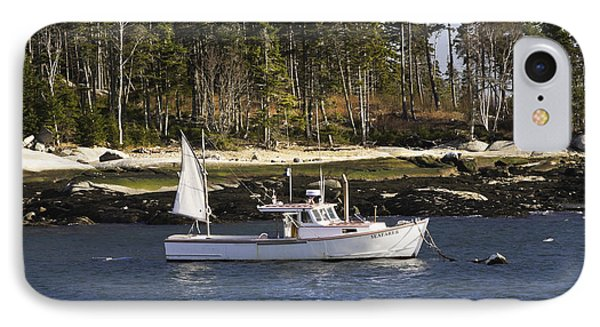 Lobsterboat In Spruce Head Maine IPhone Case
