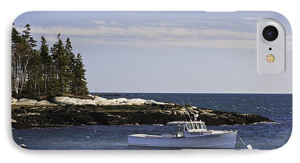 Lobsterboat In Spruce Head On The Coast Of Maine IPhone Case