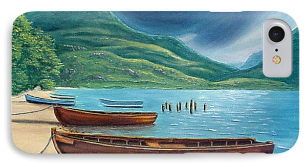 Loch Maree Scotland IPhone Case by Fran Brooks
