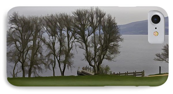 Loch Ness And Boat Jetty Next To Urquhart Castle IPhone Case by Ashish Agarwal