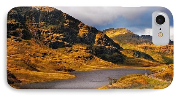 Loch Restil. Rest And Be Thankful. Scotland Phone Case by Jenny Rainbow