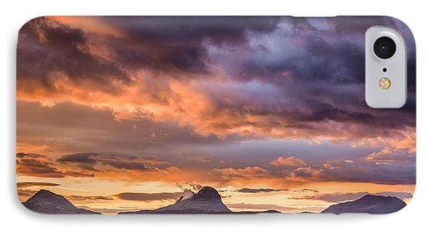 Lochinver Sunrise IPhone Case by Dave Bowman