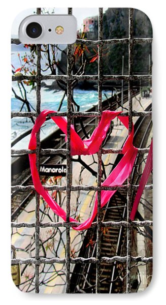 IPhone Case featuring the photograph Lock And Love.cinque Terre.italy by Jennie Breeze