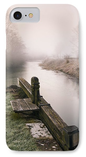 IPhone Case featuring the photograph Lock Gates On A Still Misty Morning. by Trevor Chriss