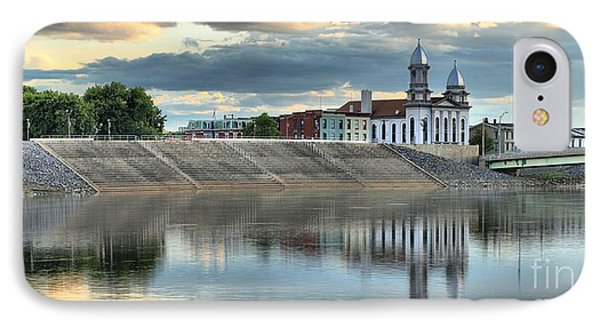 Lock Haven In The Susquehanna IPhone Case by Adam Jewell