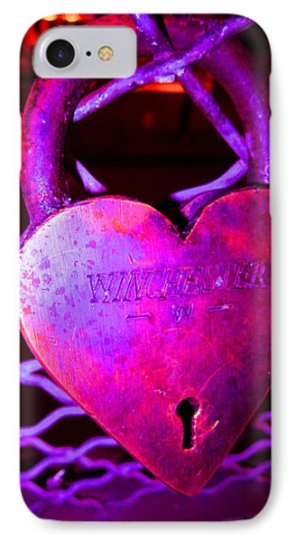 Lock Of Love In Pink Phone Case by Kym Backland