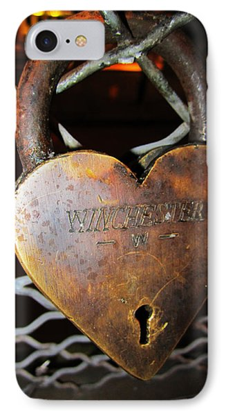 Lock Of Love Phone Case by Kym Backland