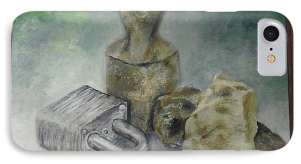 IPhone Case featuring the painting Locked And Anchored by Mary Ellen Anderson