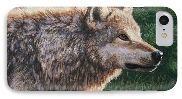 Grey Wolf - Locked IPhone Case by Crista Forest