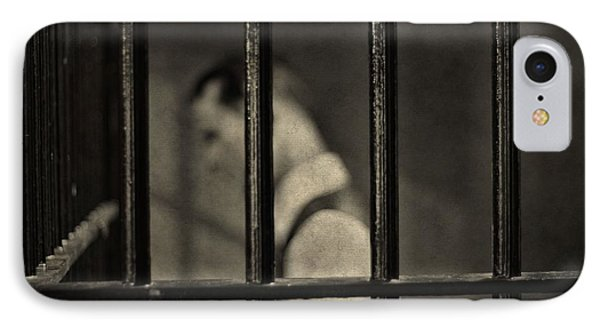 Locked Up Black And White IPhone Case by Dan Sproul