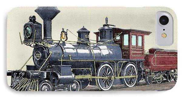 Locomotive Drawing R Loewenstein 'la IPhone Case