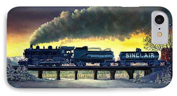 Locomotive In Winter IPhone Case by Douglas Castleman