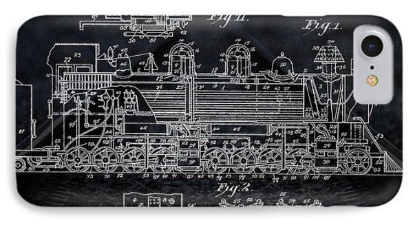 Locomotive Patent IPhone Case by Dan Sproul