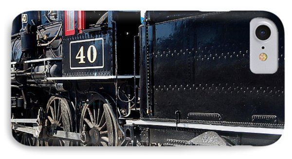 IPhone Case featuring the photograph Locomotive With Tender by Gunter Nezhoda