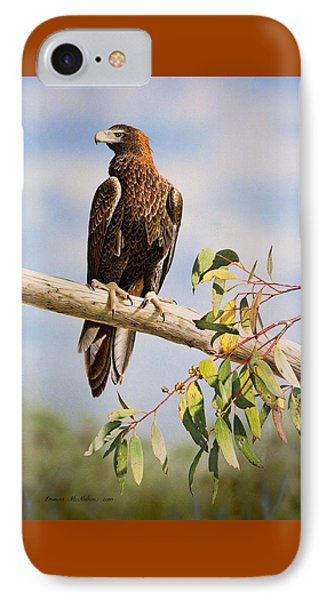 Lofty Visions - Wedge-tailed Eagle IPhone Case by Frances McMahon