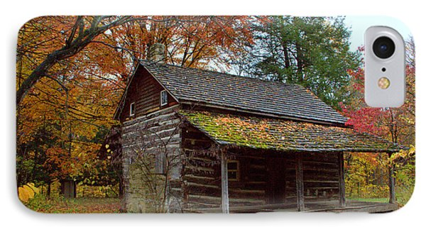 IPhone Case featuring the photograph Log Cabin 1 by Jim McCain