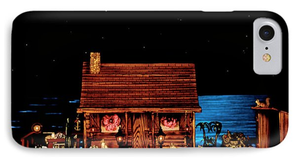 Log Cabin And Outhouse Color Scene With Old Vintage Classic 1958 Ferrari 250 Testa Rossa Phone Case by Leslie Crotty