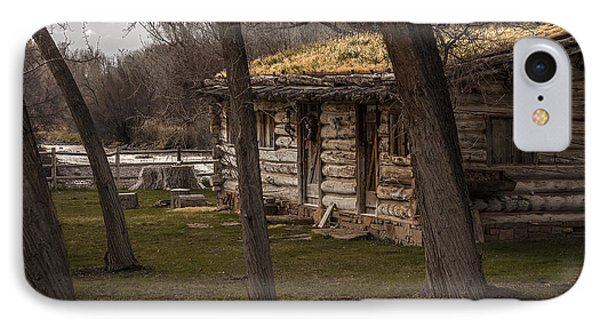Log Cabin By The River Phone Case by David Kehrli