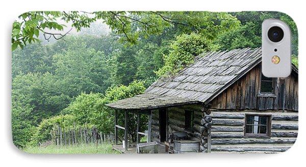 Log Cabin Fort New Salem IPhone Case by Thomas R Fletcher
