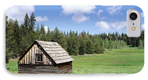 Log Cabin In A Field, Klamath National IPhone Case by Panoramic Images