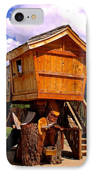 Log Cabin Penthouse IPhone Case by Jeff Gater