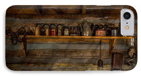 Log Cabin Shelf IPhone Case by Paul Freidlund
