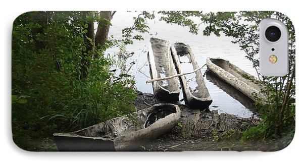 IPhone Case featuring the photograph Log Canoes by Kerri Mortenson