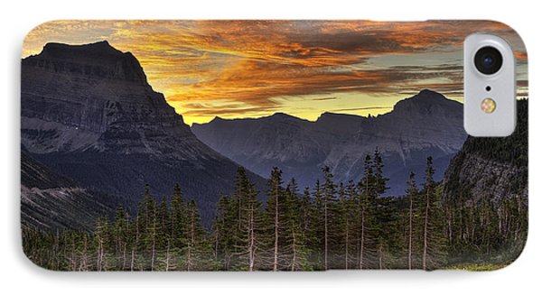 Logan Pass Sunrise IPhone Case by Mark Kiver