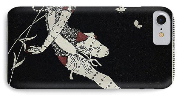 L'oiseau De Feu IPhone Case by Georges Barbier