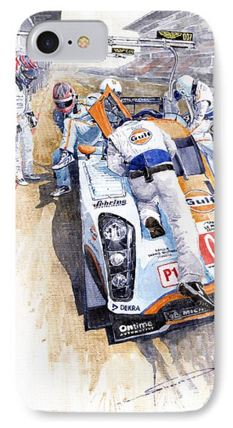 Lola Aston Martin Lmp1 Gulf Team 2009 IPhone Case by Yuriy  Shevchuk