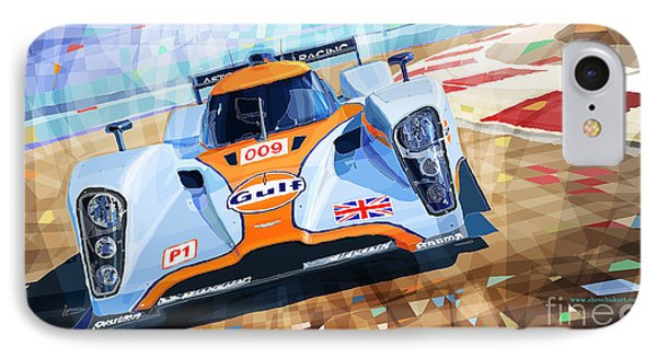 Lola Aston Martin Lmp1 Racing Le Mans Series 2009 IPhone Case by Yuriy  Shevchuk