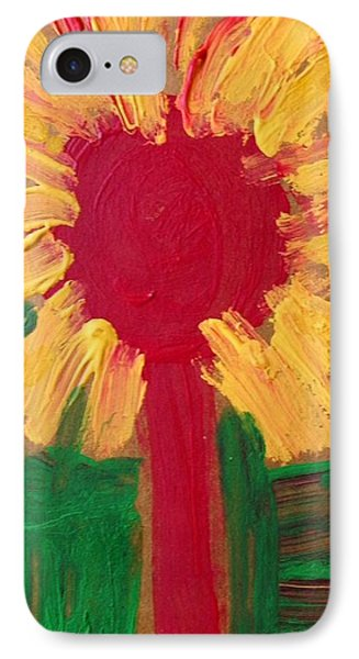 IPhone Case featuring the painting Lolipop Flower by Mary Carol Williams
