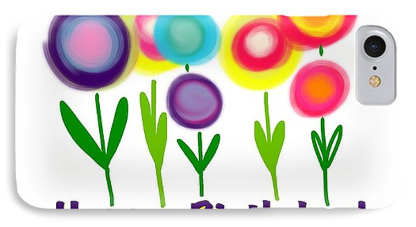 IPhone Case featuring the digital art Lollipop Flowers  by Christine Fournier