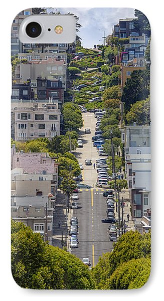 Lombard Street IPhone Case by Adam Romanowicz