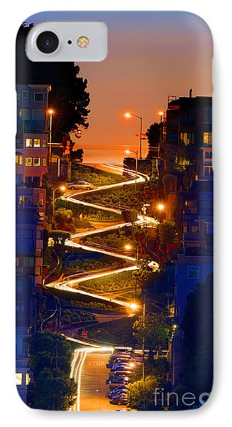 Lombard Street Depth Into The Darkness Of Light IPhone Case by Wernher Krutein