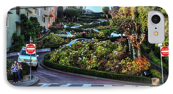 Lombard Street  IPhone Case by Kevin Ashley