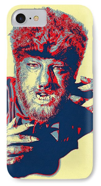 Lon Chaney Jr In The Wolf Man IPhone Case by Art Cinema Gallery