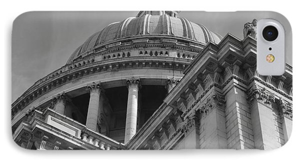 London St Pauls Cathedral IPhone Case by Cheryl Miller