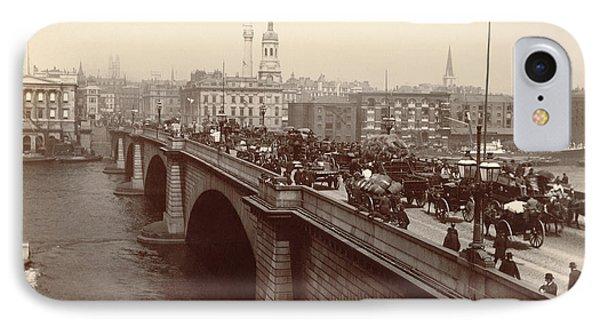 London Bridge Traffic IPhone Case by Underwood Archives
