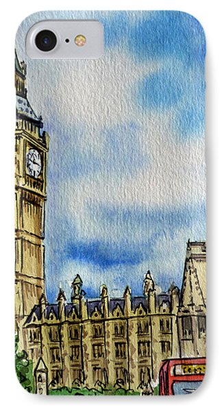 London England Big Ben IPhone 7 Case by Irina Sztukowski