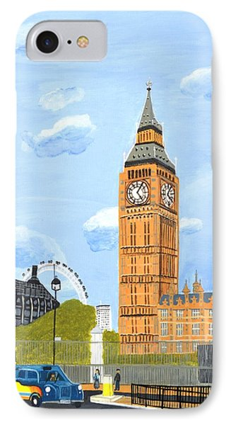 IPhone Case featuring the painting London England Big Ben  by Magdalena Frohnsdorff