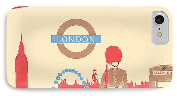 London England IPhone 7 Case by Famenxt DB
