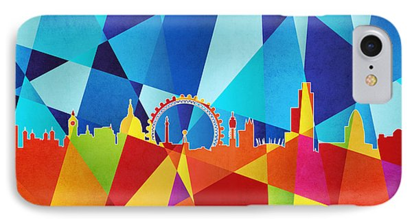 London England Skyline Phone Case by Michael Tompsett