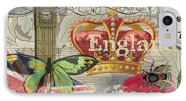 London England Vintage Travel Collage  IPhone Case