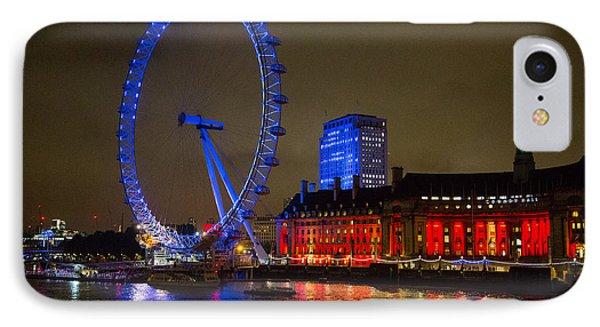 London Eye At Night IPhone Case